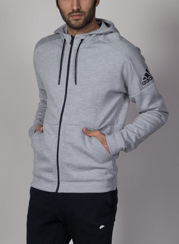 FELPA ID STADIUM FULL ZIP CON CAPPUCCIO, GREY, medium