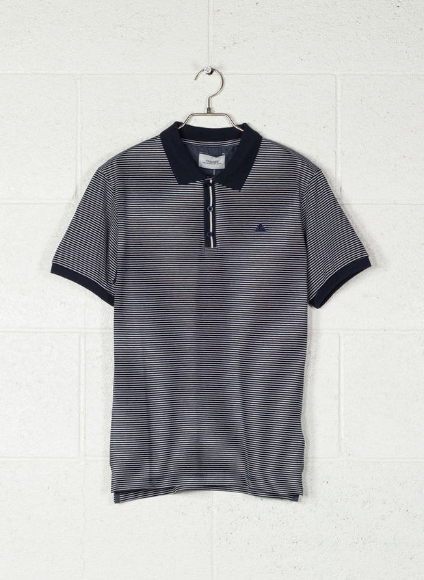 POLO FANTASIA A RIGHE, 2713NVY, large