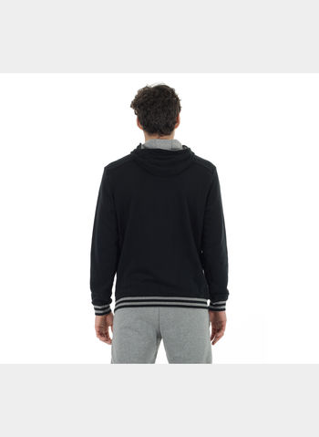 FELPA ATHLETIC HOODED SWEAT TR , 001BLK, small