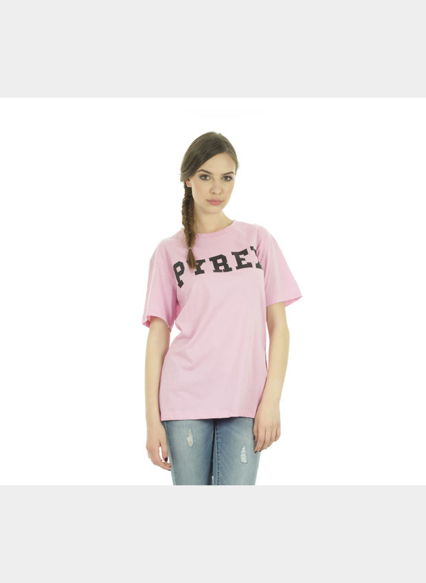 T-SHIRT BIG LOGO , ROSA, large