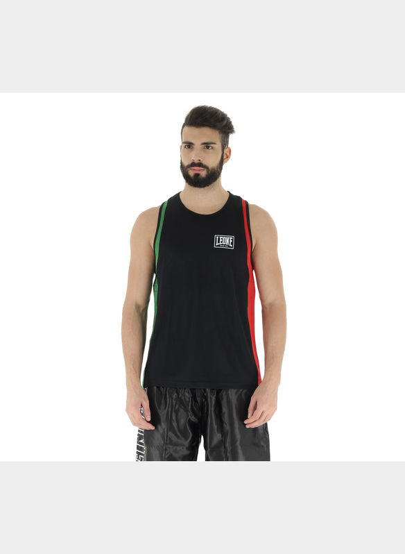 CANOTTIERA BOXE ITALIA, BLK, medium