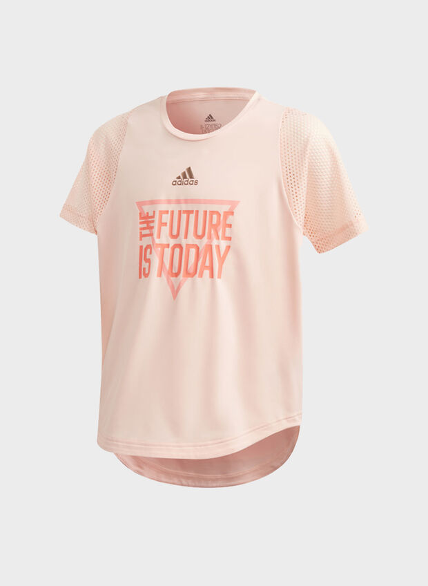 T-SHIRT THE FUTURE TODAY RAGAZZA, SALMONE, large