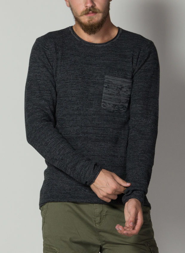 MAGLIONE TASCHINO, 70818CHARCOAL, large