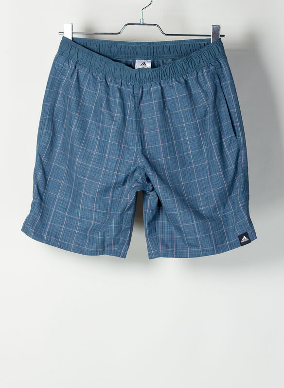 SHORTS COSTUME CHECK CLX, NVY, medium