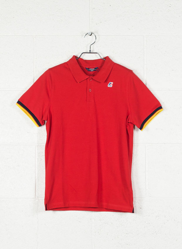 POLO VINCENT CONTRAST, K08RED, large