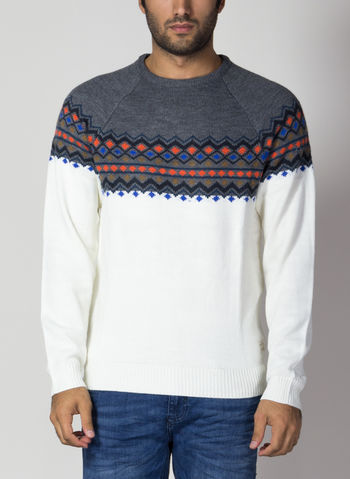 MAGLIONE TIROLESE XMAS, 70817GREYWHT, small