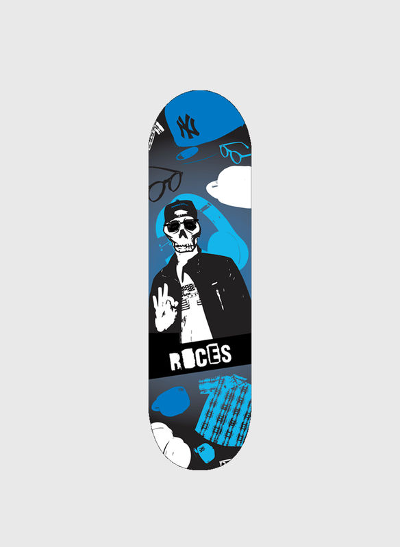 SKATEBOARD 24 SKULL ROCES, NG, medium