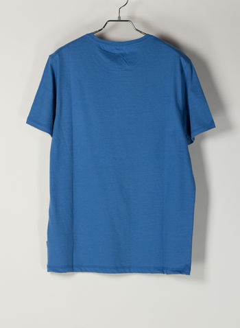 T-SHIRT STAMPA FLUO, 74001FEDERALBLU, small