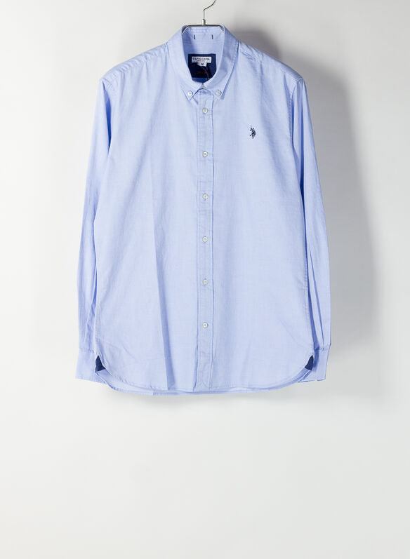 CAMICIA CALE OXFORD, 130CELESTE, medium