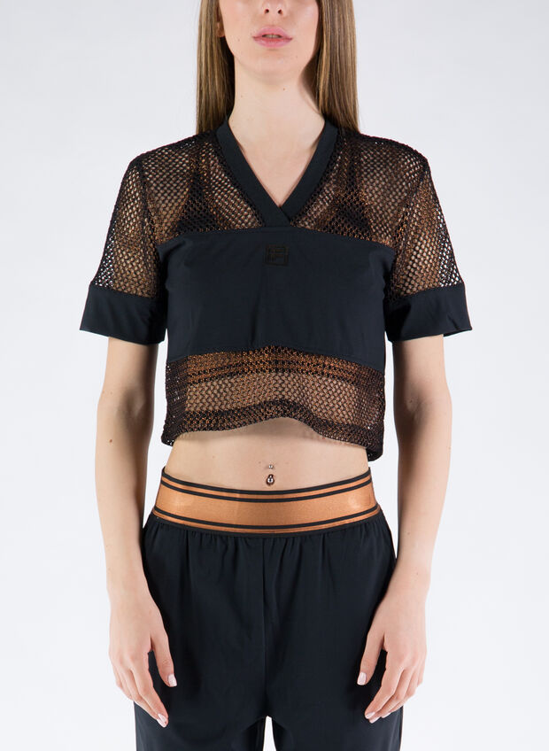 T-SHIRT CROPPED NIVEO, 002BLK, large