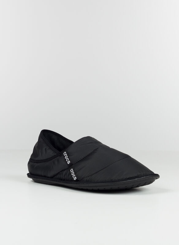 SABOT PUFF SLIPPER, BLK, medium