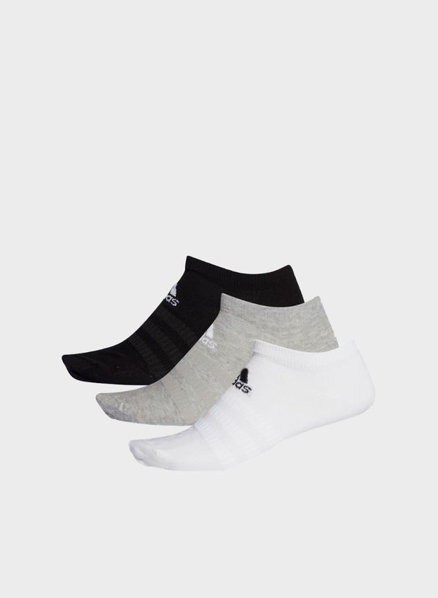 CALZINI LOW-CUT (3 PAIA), BLKGREYWHT, large