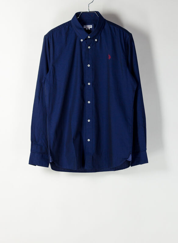CAMICIA CALE OXFORD, 179BLU, medium