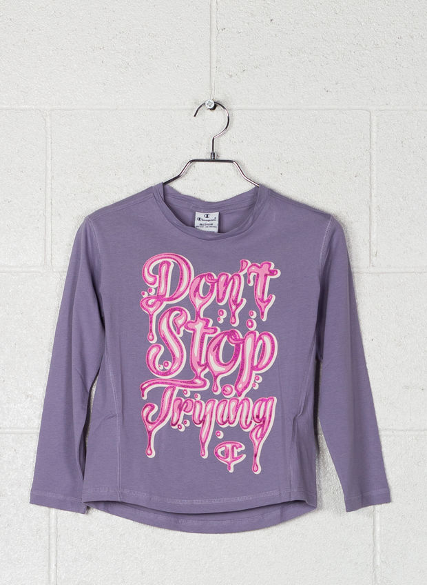 MAGLIETTA GRAPHIC MANIA RAGAZZA, VS027 PURPLE, large