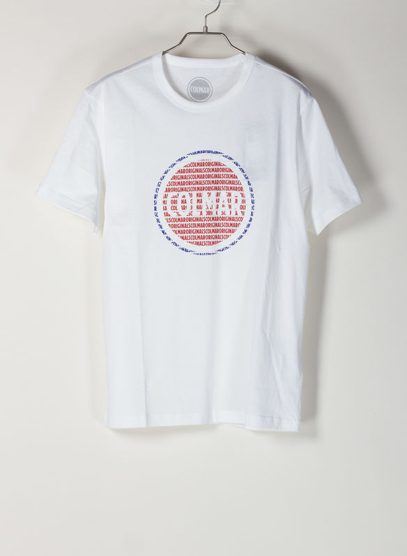 T-SHIRT LOGO BOLLO, 01WHT, medium