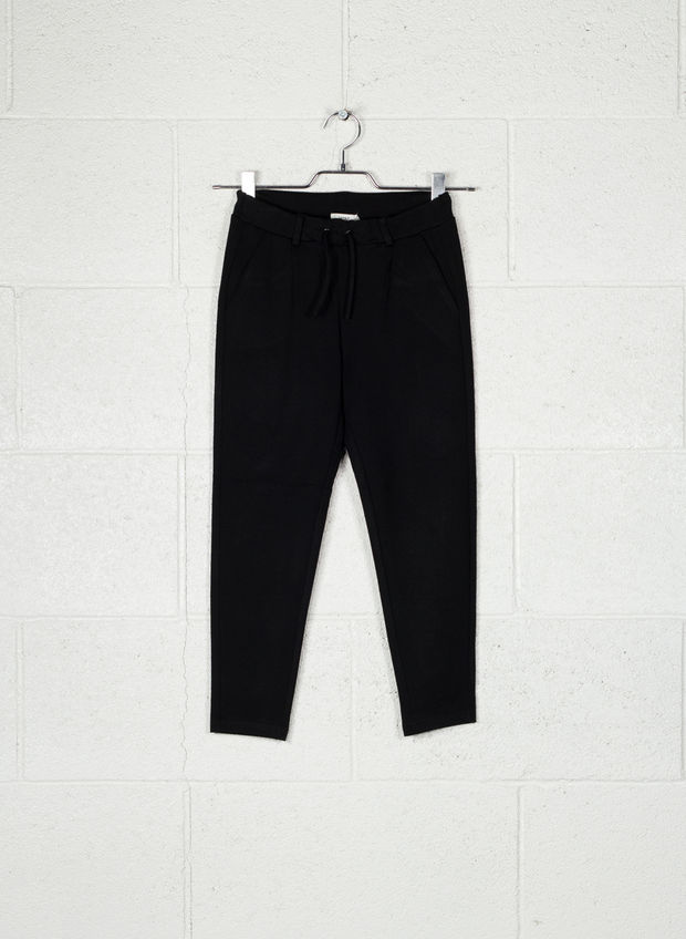 PANTALONE IDA LACCETTO STRETCH RAGAZZA, BLK, large