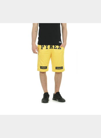BERMUDA RETE BIG LOGO , GIALLO, small