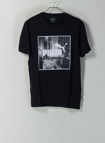 T-SHIRT GRAPHIC PHOTO, 01BLK, small