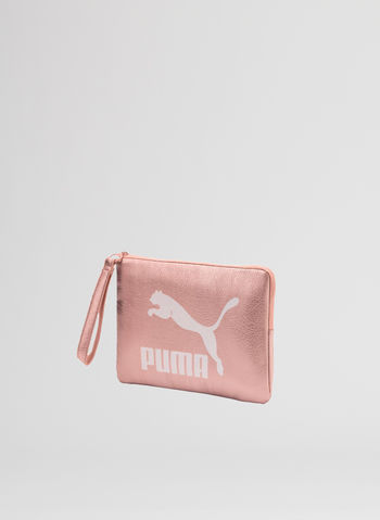POCHETTE LOGO METALLIC, 01PEACH, small