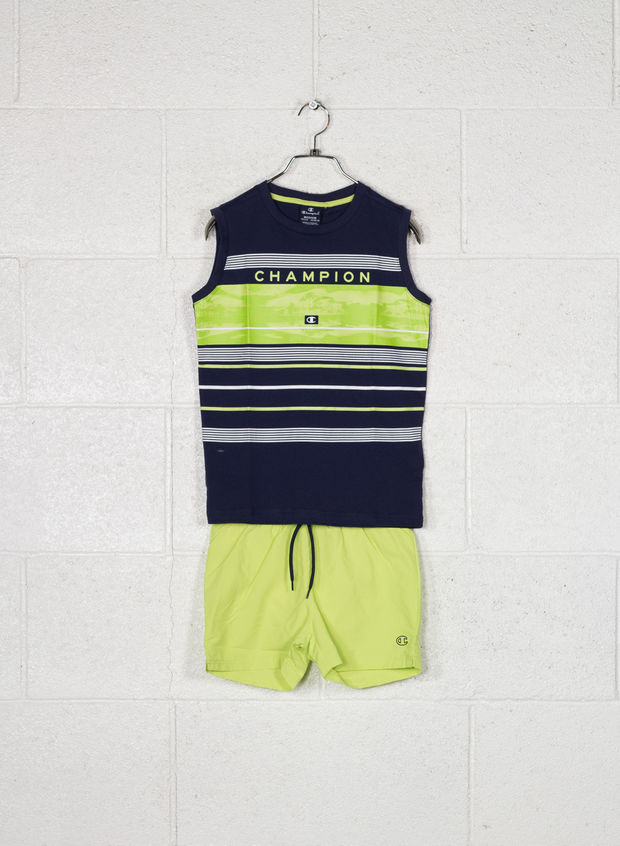 COMPLETINO BACK TO BEACH RAGAZZO, BS536 NVYLIME, large