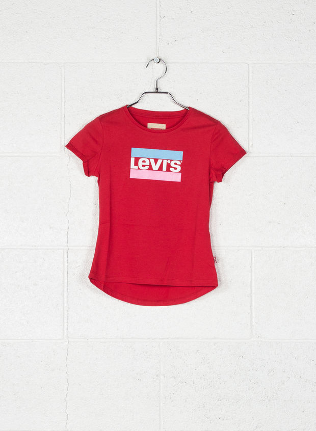 T-SHIRT TRICOLORE RAGAZZA, 37RED, large