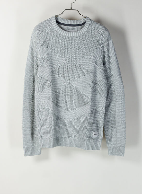 MAGLIONE MILES GIROCOLLO, LIGHT GREY, medium