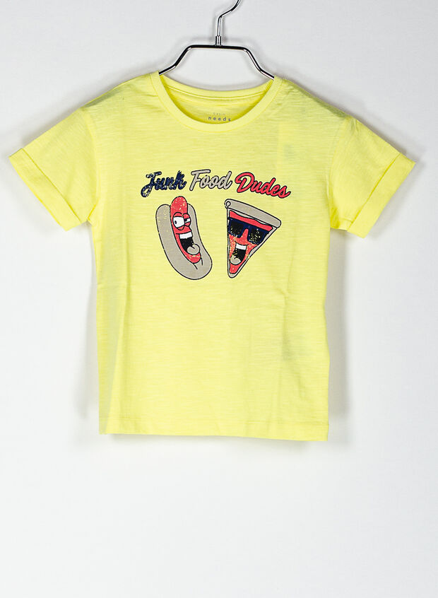T-SHIRT GRAPHIC BAMBINO, LIME, large