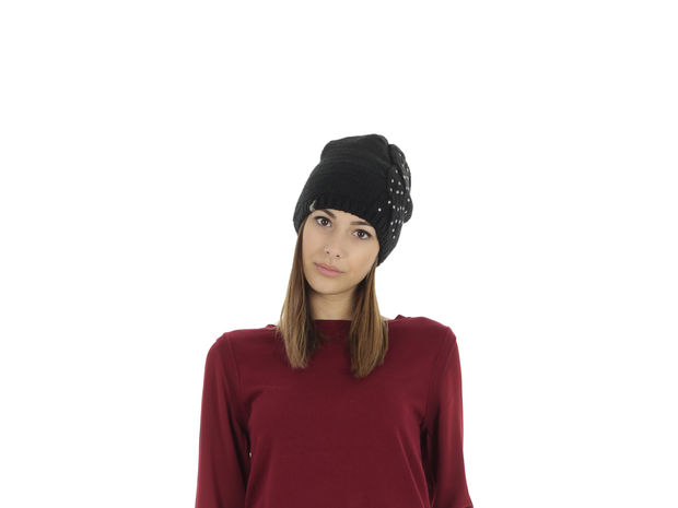 CAPPELLO BEANIE SWAN , BLK, large