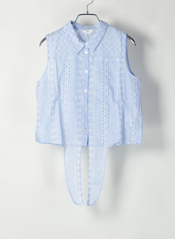 CAMICIA IN RICAMO INGLESE, CLOUD, medium