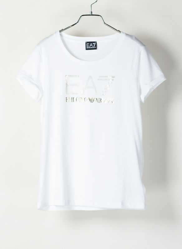 T-SHIRT LOGO LUREX, 1100WHT, medium
