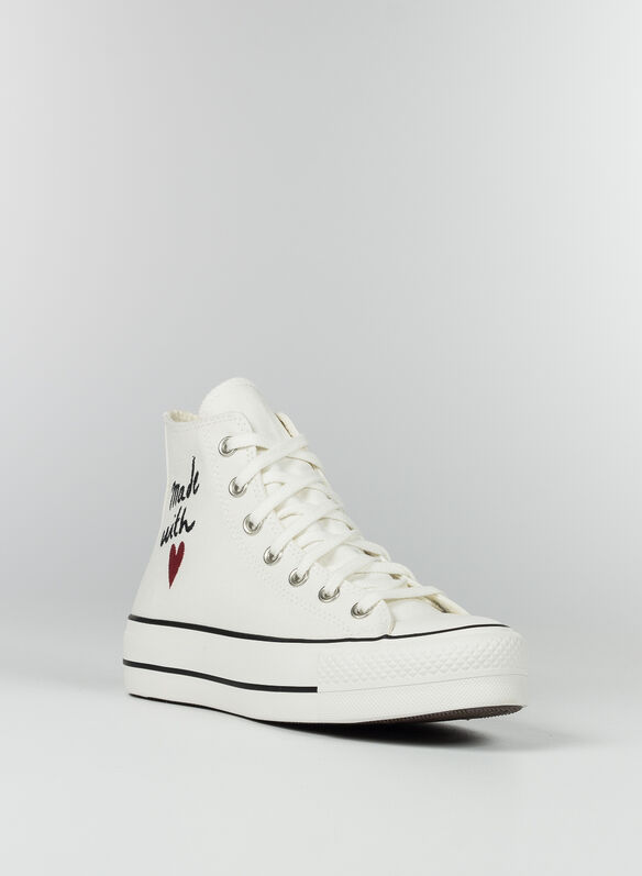 SCARPA VALENTINE'S DAY PLATFORM CHUCK TAYLOR ALL STAR HIGH TOP, WHT, medium