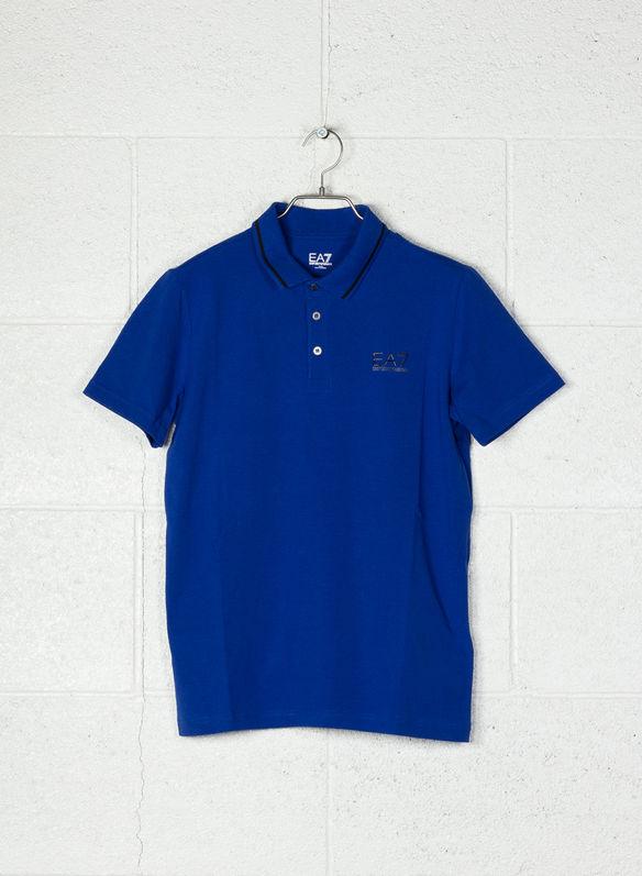 8059972202273 In Jersey Con Logo Ea7 Stretch Polo Di S Cotone 1582bluette gqccwOvp