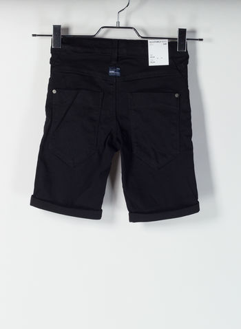 SHORT DENIM SUPER STRETCH, BLACK, small