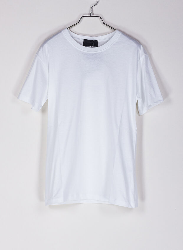 T-SHIRT LOGO STRASS, BIANCO, large