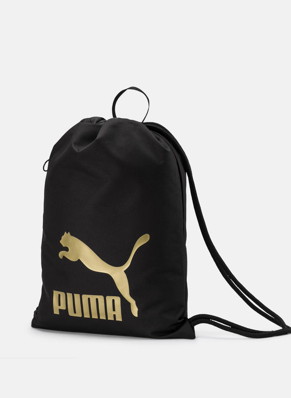 GYMSACK ORIGINALS LOGO, 01BLKGOLD, medium