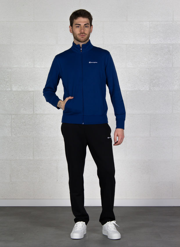 TUTA FULL ZIP GARZATA, BS025BLUENVY, large