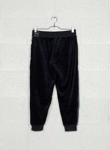 PANTALONE IN VELOUR SPORTSWEAR, 010BLK, small