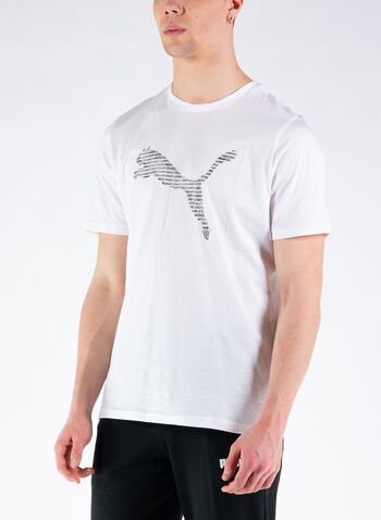 T-SHIRT LOGO CAT, 02WHT, small