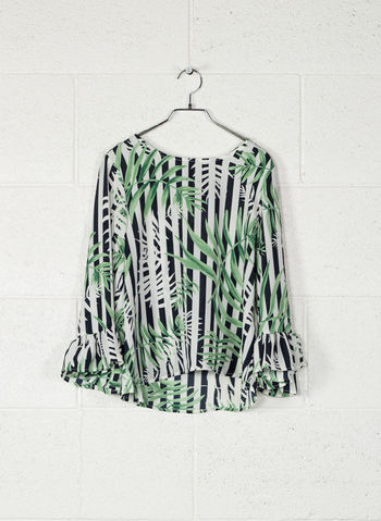 BLUSA FRILL LONG SLEEVED TOP, JUNGLE, small