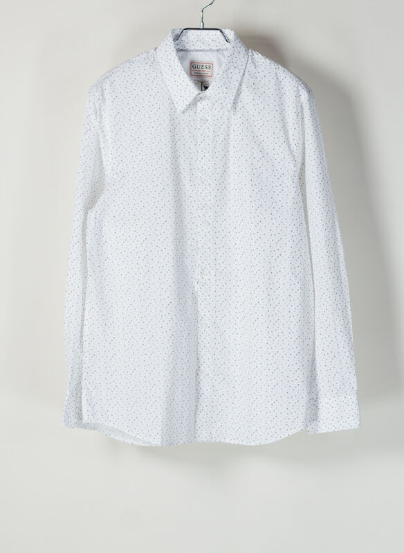 CAMICIA STAMPA ALL OVER, PPP0 WHT, medium