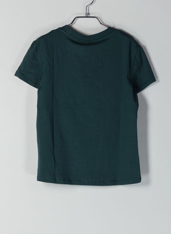 T-SHIRT CON STAMPA RAGAZZA, GREEN, small