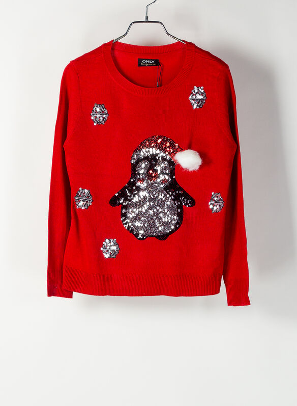 MAGLIONE CHRISTMAS, BERRY, medium