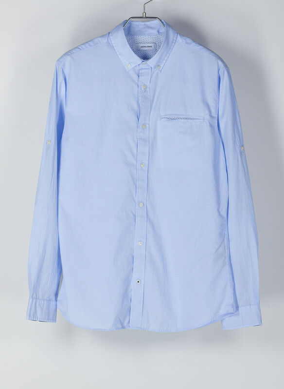 CAMICIA A RIGHE, BLUE, medium
