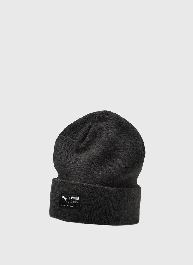 CAPPELLO ARCHIVE HEATHER BEANIE, 01BLK, large
