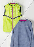 MAGLIA + GILET BE ONE MULTILAYER, BLUEGREYLIME, thumb