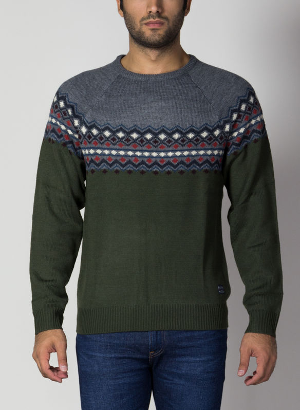 MAGLIONE TIROLESE XMAS, 77220FORESTGREY, medium