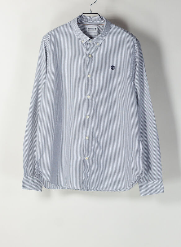 CAMICIA OXFORD RIGATA, B68NVYWHT, medium
