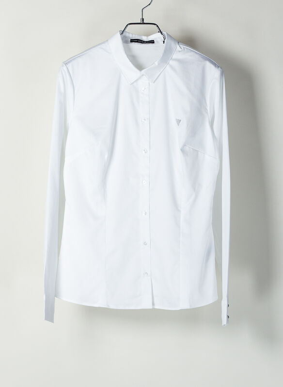 CAMICIA A MANICHE LUNGHE STRETCH, TWHT WHT, medium