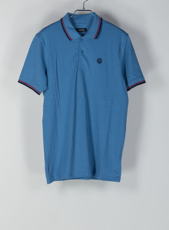 POLO NOAH PIQUET BORDINO, BLUE, medium