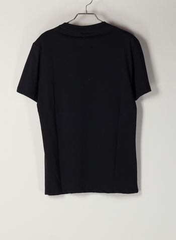 T-SHIRT STAMPA, NERO, small